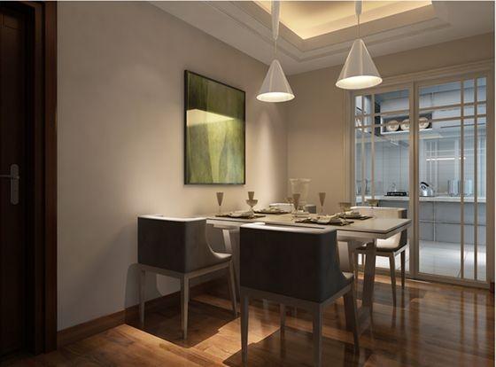 珠峰国际花园-139.52平E1户型现代简约风格-餐厅效果