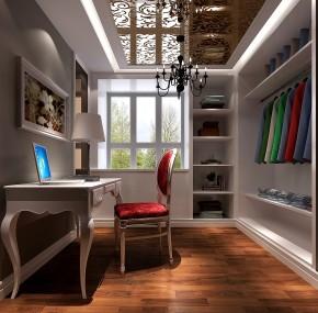 简约 欧式 高度国际 三居 白领 80后 高富帅 白富美 书房图片来自北京高度国际装饰设计在华贸城120平欧式公寓的分享