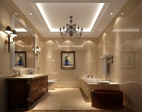 简约 欧式 高度国际 三居 白领 婚房 80后 白富美 高富帅 卫生间图片来自北京高度国际装饰设计在9.5万打造华贸城极致简欧公寓的分享