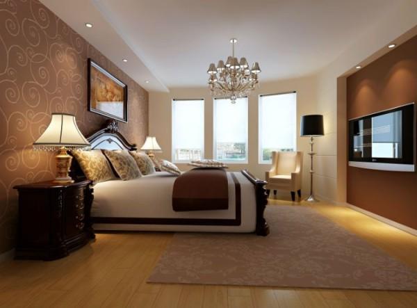 保利花园-120平米C2户型现代简约风格装修-卧室效果图