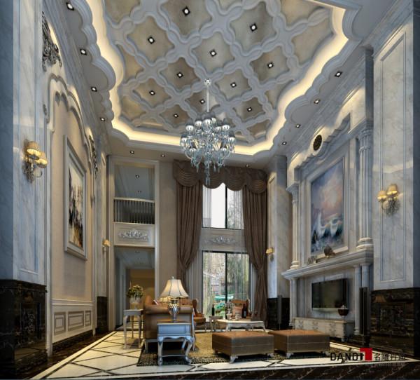 名雕丹迪别墅设计院——混搭风格——客厅