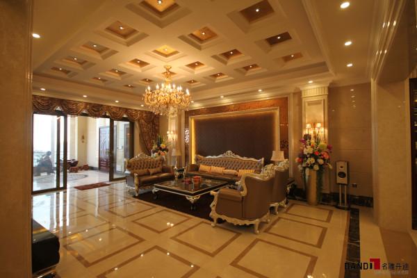 名雕丹迪设计—天湖郦都别墅—新古典—客厅