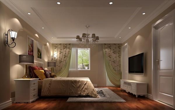 儿童房,翠绿加碎花的窗帘让房间显得生机勃勃