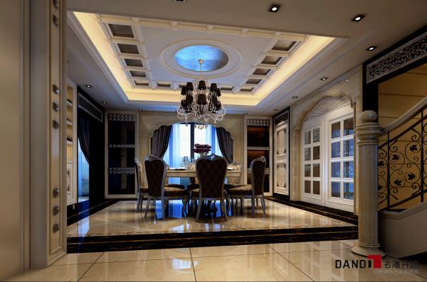 名雕丹迪别墅设计——雅居乐豪宅——欧式古典餐厅