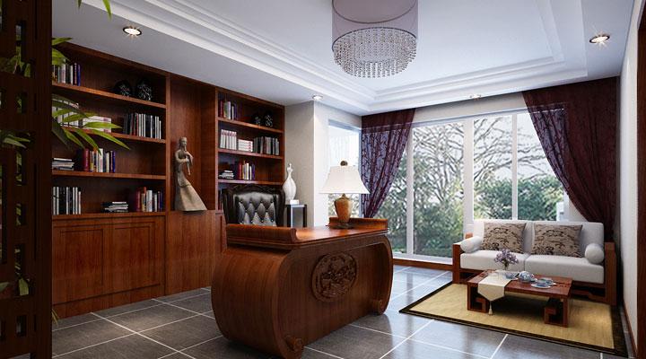 简约 中式 家居 生活 风水 整体家装 家庭装修 室内设计 广州装修 书房图片来自余欣欣在造型简朴优美,色彩浓重而成熟。的分享