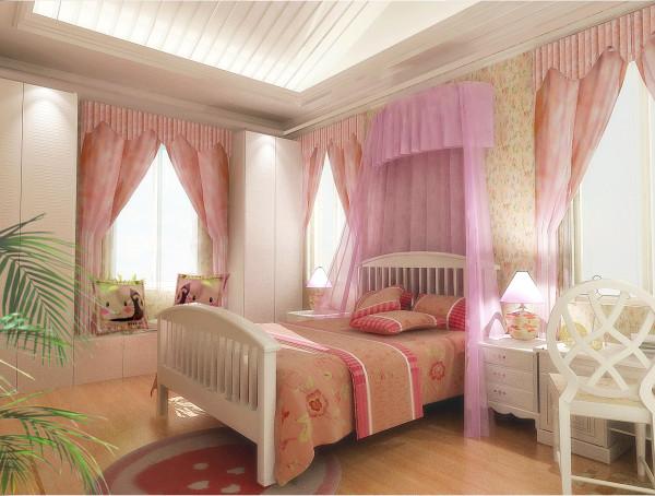【实景装修案例】400平别墅精致舒适与品质的完美演绎-英式乡村-儿童房效果图