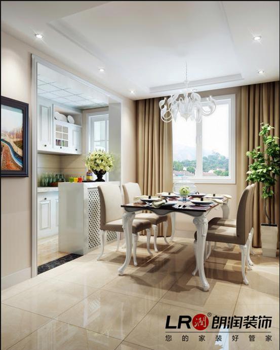 餐厅和客厅的色调相互呼应,清新自然的色调让简单也变得温暖宜人。