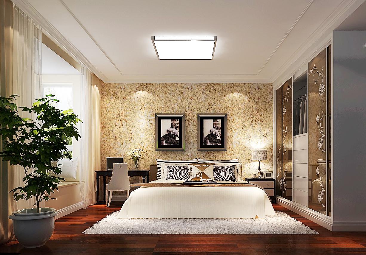简约 二居 三居 白领 收纳 80后 卧室图片来自周楠在天竺溪悦府(简约)的分享
