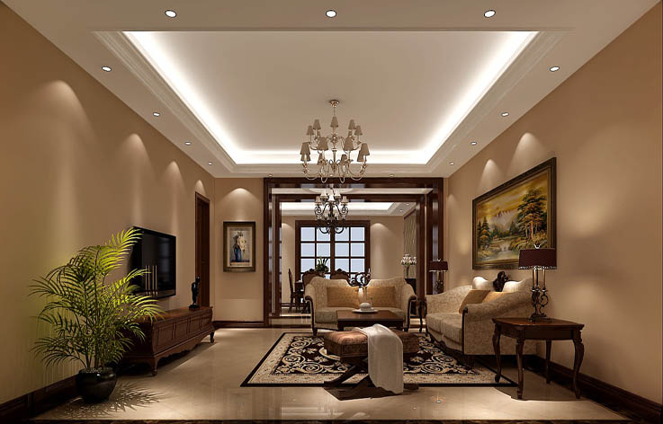 简欧 三居 80后 客厅图片来自高度国际在9.5万打造华贸城简欧范的分享