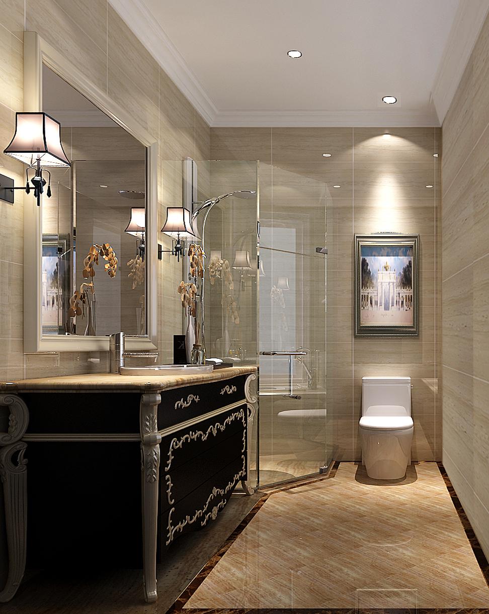 新古典 白领 80后 小资 卫生间图片来自高度国际在7.6万打造天润福熙大道新古典风的分享