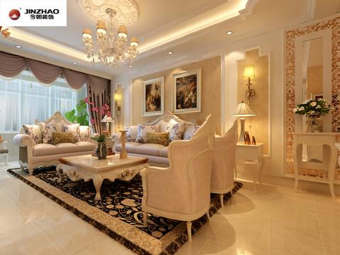 华丽的装饰,浓烈的色彩。加上欧式的油漆图案做烘托,将传统欧式的奢华与现代家居的实用性完美的结合。