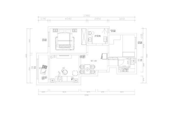 户型说明:     本户型为大地十二城两室两厅一厨一卫65.2平米。入户门右手起逆时针第一个空间是厨房,然后是次卧室接下来是卫生间和主卧室,最后是客厅以及阳台和餐厅。户型整体功能性合理,采光较好。