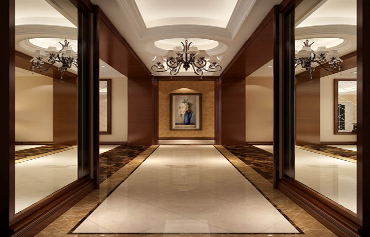 简欧 三居 80后 玄关图片来自高度国际在9.5万打造华贸城简欧范的分享
