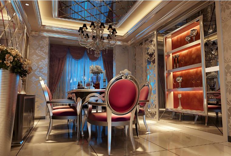 奢华 欧式 餐厅图片来自郑州实创装饰-杨淑平在升龙城-三居室-奢华欧式风格的分享