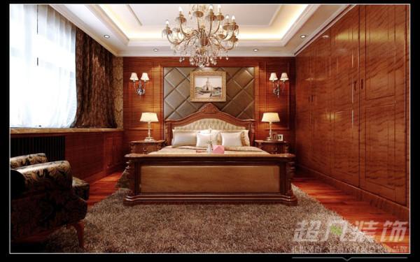 意墅蓝山173平美式风格卧室效果图