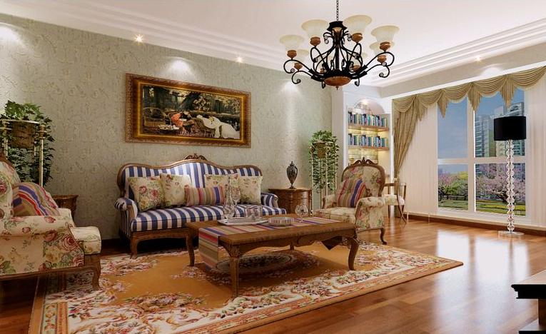 田园 二居 客厅图片来自石家庄瑞博文张琳在4.7万打造燕都紫庭英氏田园风的分享