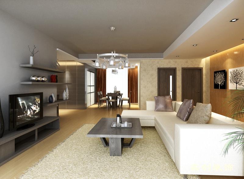 简约 三居 80后 舒适 现代 成都实创 客厅图片来自成都实创装饰在中德英伦联邦-现代简约时尚三居的分享