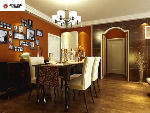 餐厅:浓烈的色彩对比与精美的造型设计达到华贵的装饰效果,摇曳的烛光照亮了整个的餐厅,配合着周围浓烈的色彩。浪漫的情调顿时蔓延开来.....
