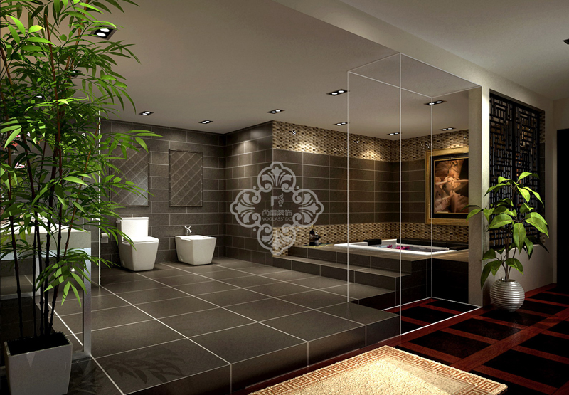 中式风格 别墅装修 尚层装饰 别墅设计 卫生间图片来自天津别墅装修公司在大气、奢华中式古典风的分享