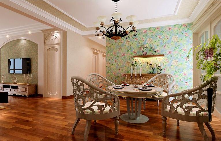 田园 二居 餐厅图片来自石家庄瑞博文张琳在4.7万打造燕都紫庭英氏田园风的分享