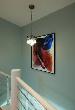 地中海 高度国际 清新 三居 80后 小资 楼梯图片来自凌军在奉献着七色光芒的家的分享