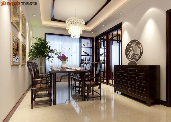 星河御城-124平A1户型装修设计-餐厅效果图