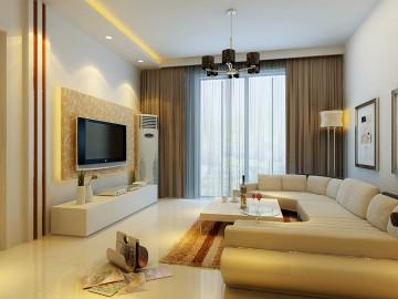 简洁明快、实用大方的两居室