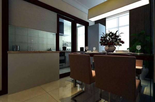 金林中心140平现代简约温馨贵气风格-餐厅厨房效果图