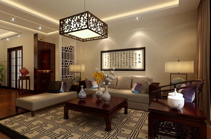 新中式 客厅图片来自陕西家居乐装修公司在新中式风格147平米的分享