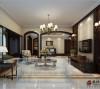 上海保利茉莉公馆叠加别墅美式风格装修设计方案展示