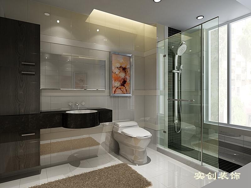 简约 三居 80后 舒适 现代 成都实创 卫生间图片来自成都实创装饰在中德英伦联邦-现代简约时尚三居的分享