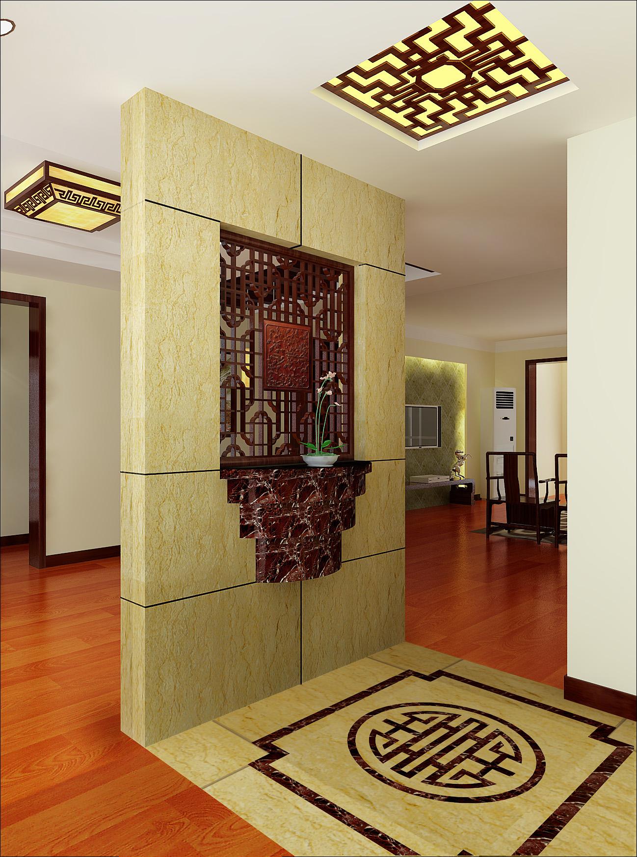 三居 玄关图片来自亚光亚装饰在突出实用的中式的分享