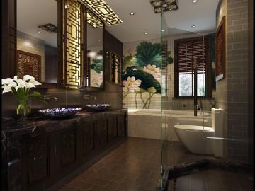 中海紫御世家别墅新中式风格设计