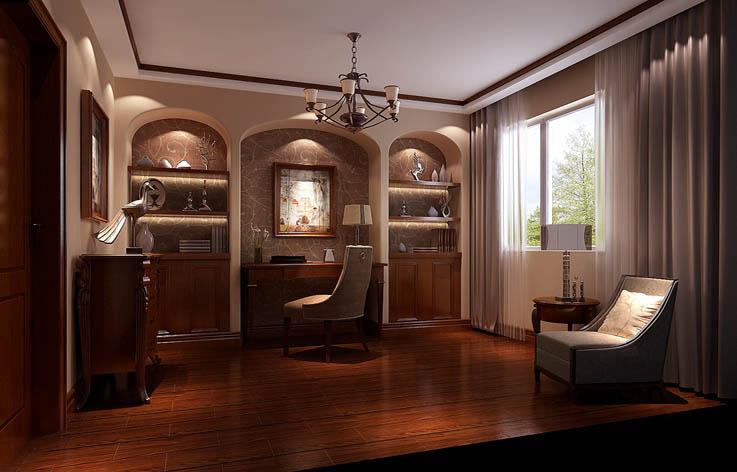 托斯卡纳 书房图片来自高度国际在8万打造鲁能七号院托斯卡纳范的分享