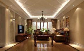 金隅翡丽 高度国际 三居 别墅 白领 80后 高富帅 白富美 美式 客厅图片来自北京高度国际装饰设计在金隅翡丽美式公寓的分享