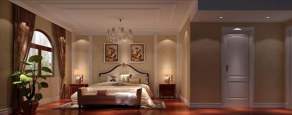整体风格以美式风格为主,整体色调以米色为主,使整个房间都显得很温馨、浪漫、舒适