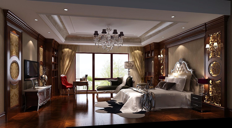 美式 混搭 三居 白领 收纳 小资 高度国际 小清新 卧室图片来自高度国际王慧芳在16万打造美式古典金隅翡丽的分享