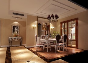 金隅翡丽 高度国际 三居 别墅 白领 80后 高富帅 白富美 美式 餐厅图片来自北京高度国际装饰设计在金隅翡丽美式公寓的分享