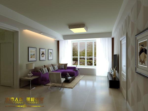 石家庄城市人家雍和慢城130平三居室简约装修设计