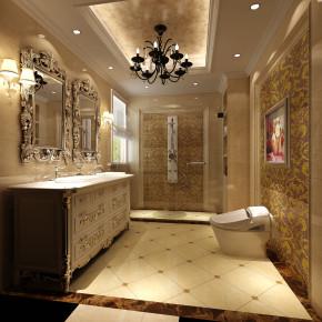 欧式 奢华 三居 白领 高度国际 80后 小资 白富美 高富帅 卫生间图片来自北京高度国际装饰设计在鲁能七号院200平奢华公寓的分享