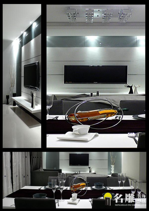 名雕装饰设计—极简主义装饰—电视空间