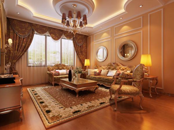 主要设计重点在电视背景墙,因为采光问题对材质要求比较高,采用石材加壁纸的软硬结合的思路。
