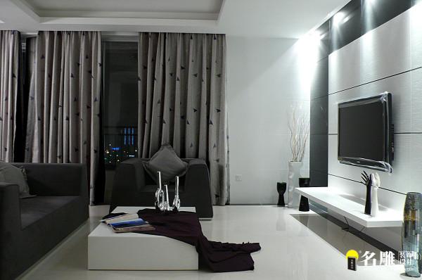 名雕装饰设计—极简主义装饰—客厅:空间点、线、面配上黑、白、灰脱离色彩倾向的结合,散放质朴光茫,客厅采用饰品与硬件对比,彰显高雅空间。