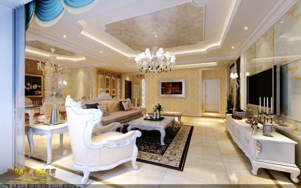 石家庄城市人家天山熙湖小区140平客厅装修设计