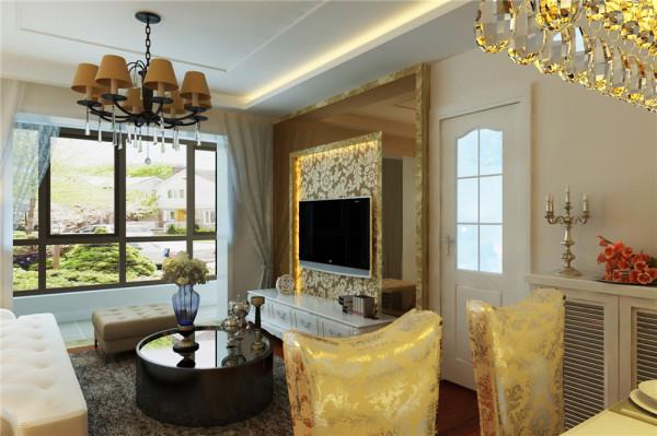 由于空间不是特别大,再根据客户的喜好,整体以高明度的色彩来装饰,在电视背景和床头背景出采用了一些跳跃的色彩来搭配,突出背景墙的装饰性。
