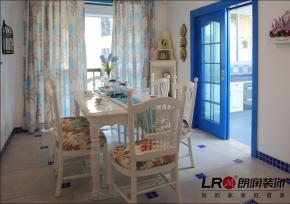 小清新 地中海 二居 浪漫 80后 小资 餐厅图片来自朗润装饰工程有限公司在成都ICC128平小清新地中海格调的分享
