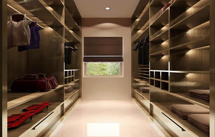混搭 温馨 舒适 衣帽间图片来自高度国际设计装饰在鲁能七号院175㎡混搭风格案例的分享