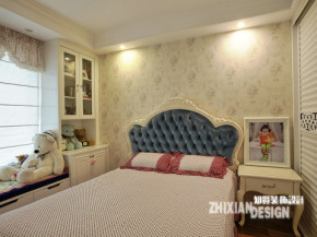 简欧 公主房 卧室图片来自上海知贤设计小徐在低调奢华洋溢三代同堂幸福家的分享