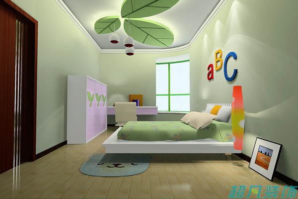 超凡装饰别墅设计-绿城百合欧美风格复式别墅装修设计效果图-儿童房