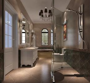 简约 美式 别墅 混搭 收纳 白领 小资 高度国际 小清新 卫生间图片来自高度国际王慧芳在280㎡四居室红杉溪谷的分享